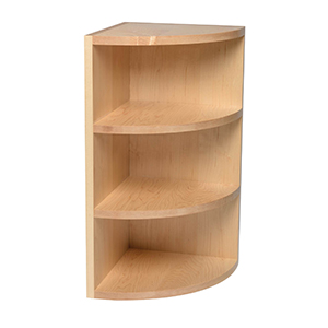 rounded corner cabinet shelf