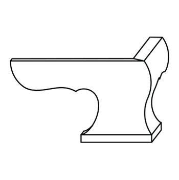 8072-A-FPF | Front Pedestal Feet