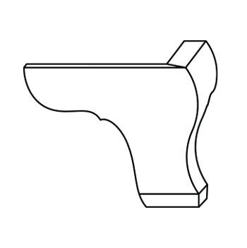 8072-B-FPF | Front Pedestal Feet