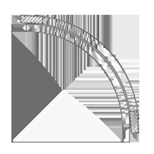 (A) 12″ x 12″ Convex Cabinet