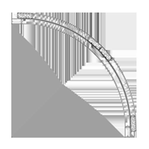 (C) 18″ x 18″ Convex Cabinet