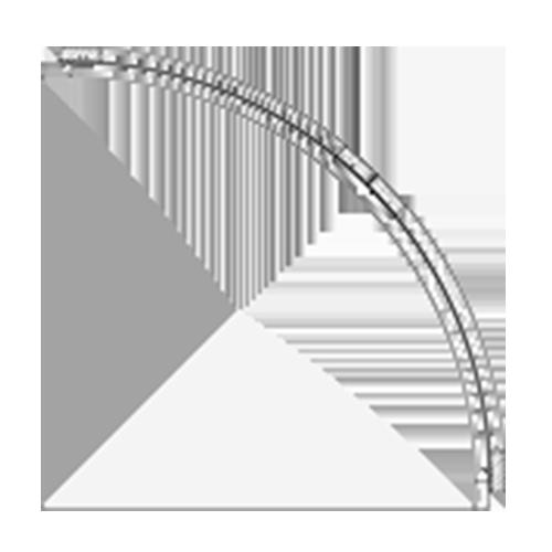 (D) 24″ x 24″ Convex Cabinet
