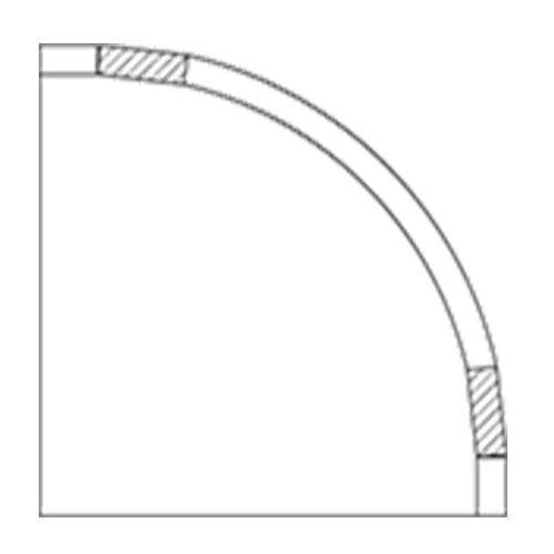 (G) 12″ x 12″ Convex Inset Cabinet