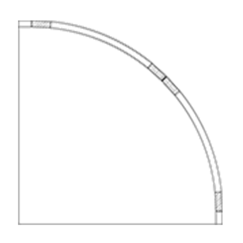 (I) 24″ x 24″ Convex Inset Cabinet
