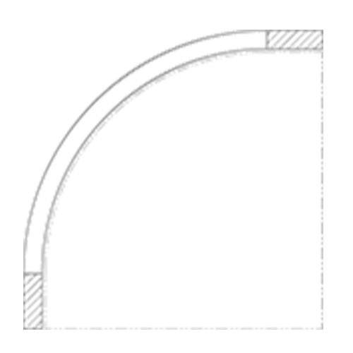(N) 12″ Corner
