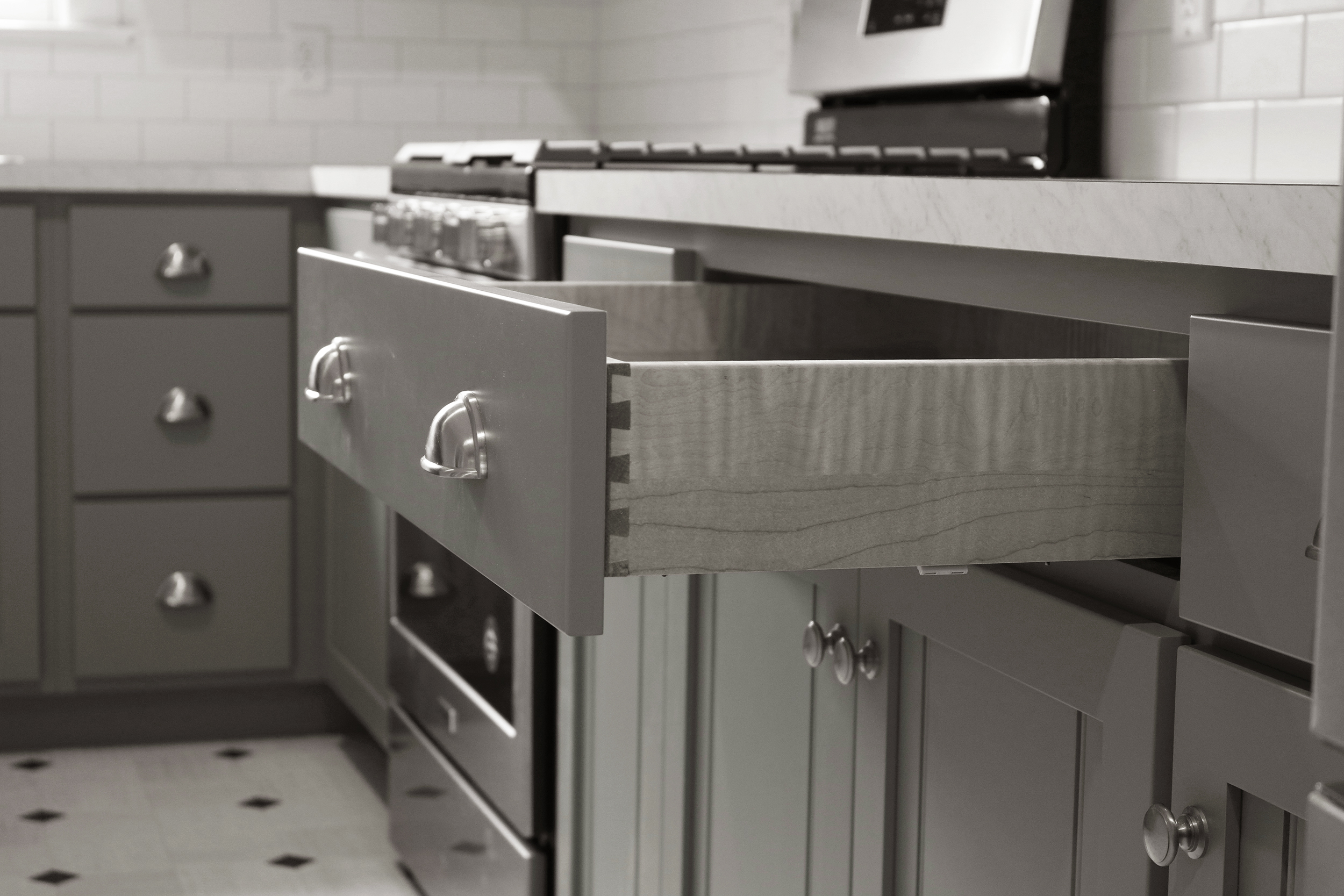 Dovetailed Drawer in Kitchen